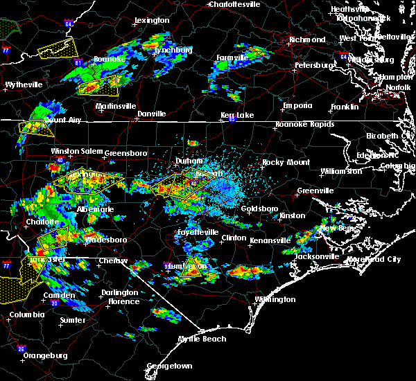 Radar Image for Severe Thunderstorms near Moncure, NC at 5/2/2016 4:27 PM EDT