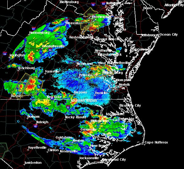 Radar Image for Severe Thunderstorms near Claremont, VA at 5/2/2016 7:02 PM EDT