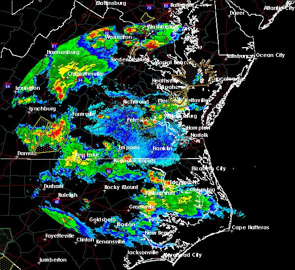 Radar Image for Severe Thunderstorms near Claremont, VA at 5/2/2016 7:17 PM EDT