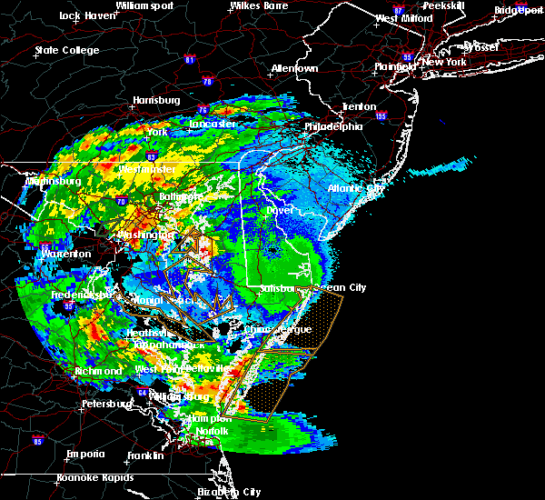 Radar Image for Severe Thunderstorms near Dover, DE at 5/2/2016 10:18 PM EDT