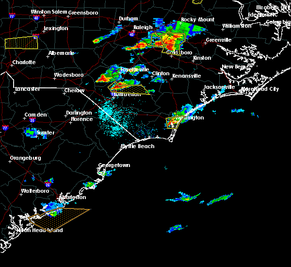 Radar Image for Severe Thunderstorms near Tar Heel, NC at 5/3/2016 7:26 PM EDT