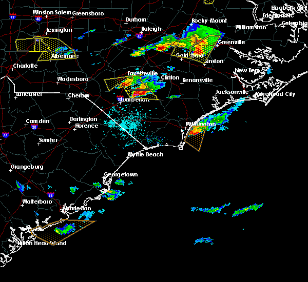 Radar Image for Severe Thunderstorms near Tar Heel, NC at 5/3/2016 7:55 PM EDT