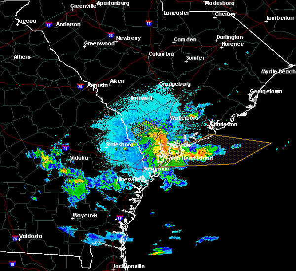 Radar Image for Severe Thunderstorms near Kiawah Island, SC at 5/3/2016 9:19 PM EDT