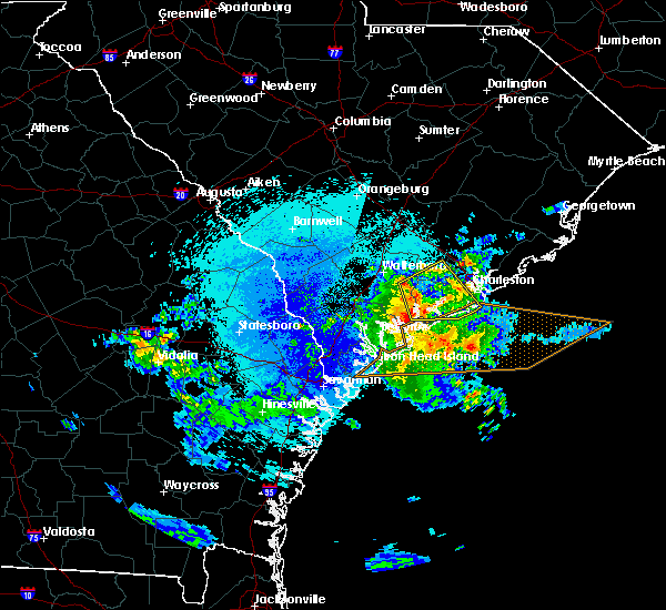 Radar Image for Severe Thunderstorms near Kiawah Island, SC at 5/3/2016 9:46 PM EDT