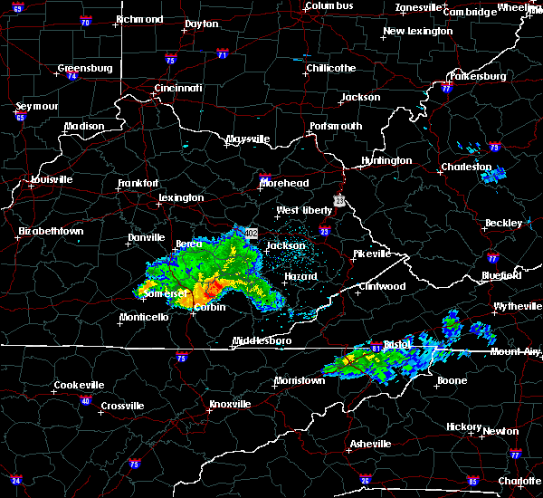 Radar Image for Severe Thunderstorms near Barbourville, KY at 5/7/2016 7:29 PM EDT