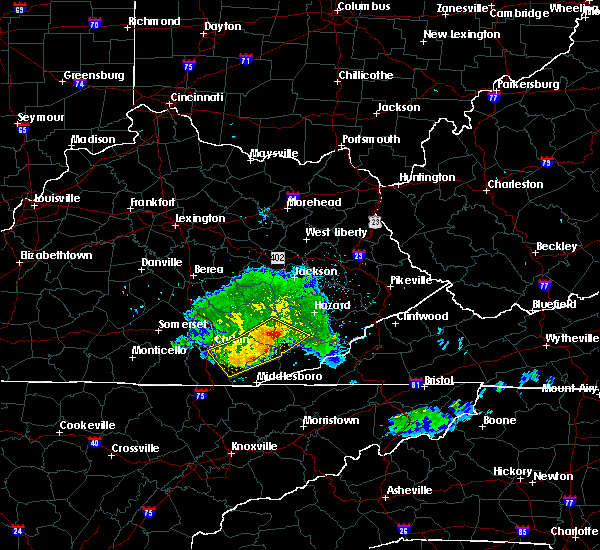 Radar Image for Severe Thunderstorms near Flat Lick, KY at 5/7/2016 7:53 PM EDT