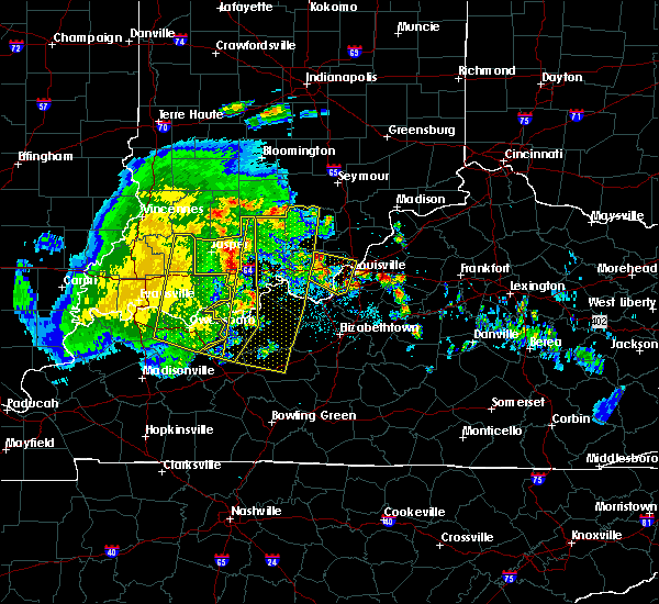 Radar Image for Severe Thunderstorms near Fordsville, KY at 5/7/2016 8:52 PM EDT