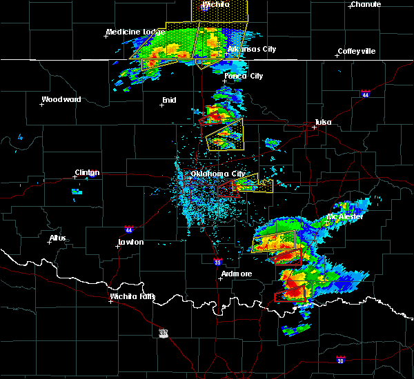 Radar Image for Severe Thunderstorms near Prague, OK at 5/9/2016 5:56 PM CDT