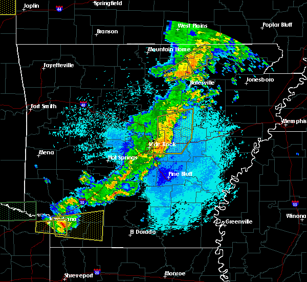 Radar Image for Severe Thunderstorms near McAlmont, AR at 5/9/2016 11:33 PM CDT