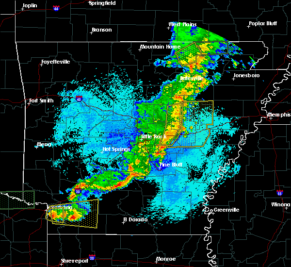Radar Image for Severe Thunderstorms near Georgetown, AR at 5/10/2016 12:01 AM CDT
