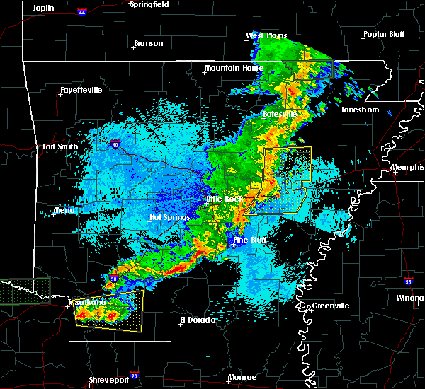 Radar Image for Severe Thunderstorms near Georgetown, AR at 5/10/2016 12:07 AM CDT
