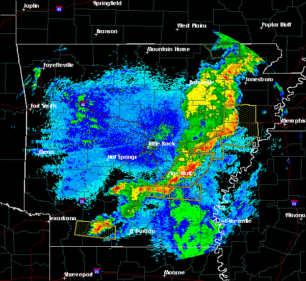 Radar Image for Severe Thunderstorms near Sparkman, AR at 5/10/2016 12:55 AM CDT