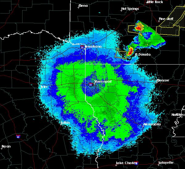 Radar Image for Severe Thunderstorms near Magnolia, AR at 5/10/2016 1:28 AM CDT