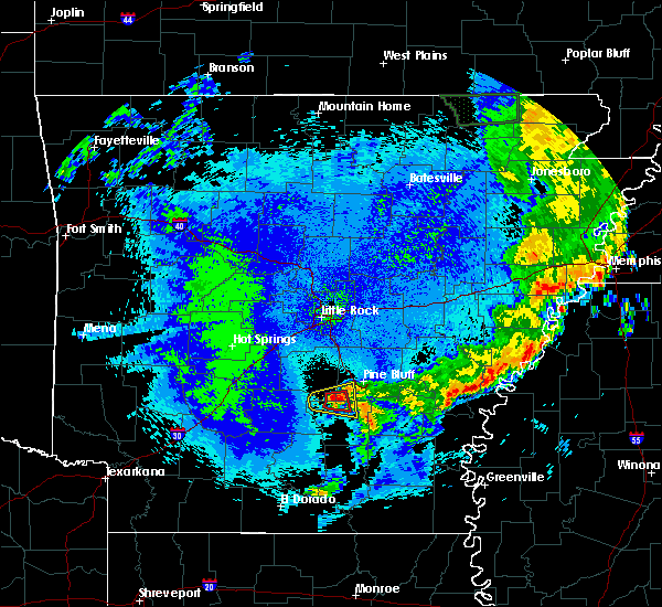 Radar Image for Severe Thunderstorms near Staves, AR at 5/10/2016 2:10 AM CDT