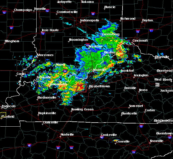 Radar Image for Severe Thunderstorms near Cecilia, KY at 5/10/2016 3:38 PM EDT