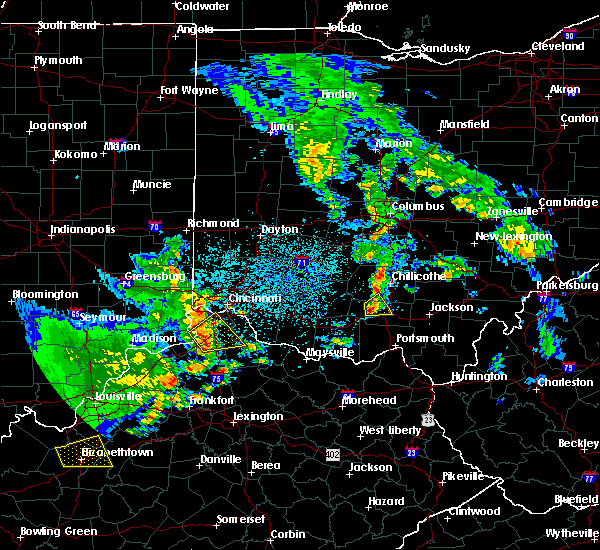 Radar Image for Severe Thunderstorms near Piketon, OH at 5/10/2016 3:53 PM EDT