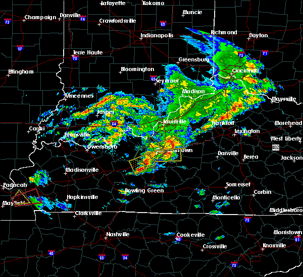 Radar Image for Severe Thunderstorms near Mount Washington, KY at 5/10/2016 4:42 PM EDT