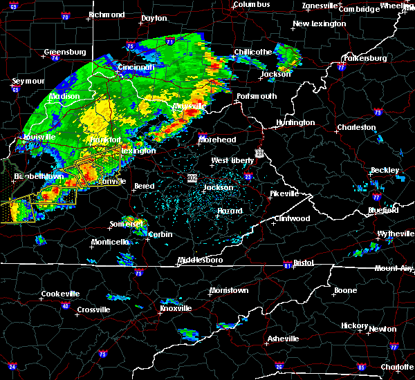 Radar Image for Severe Thunderstorms near Danville, KY at 5/10/2016 5:48 PM EDT
