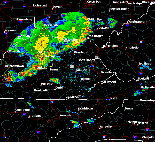 Radar Image for Severe Thunderstorms near Midway, KY at 5/10/2016 6:12 PM EDT