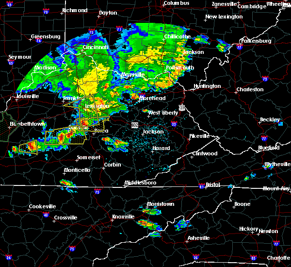 Radar Image for Severe Thunderstorms near Midway, KY at 5/10/2016 6:44 PM EDT