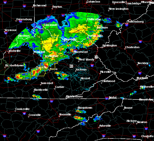 Radar Image for Severe Thunderstorms near Danville, KY at 5/10/2016 6:47 PM EDT