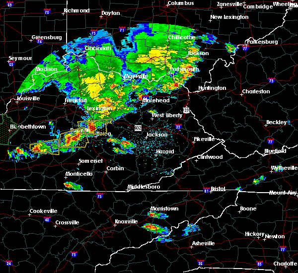 Radar Image for Severe Thunderstorms near Richmond, KY at 5/10/2016 6:54 PM EDT