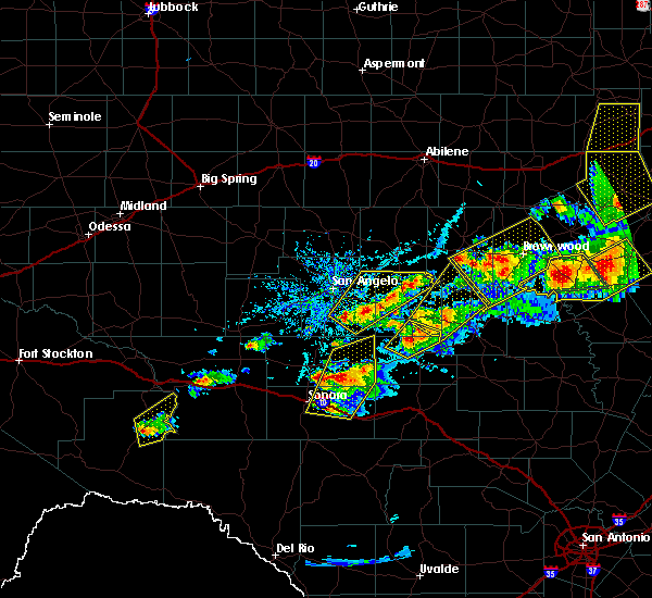 Radar Image for Severe Thunderstorms near Miles, TX at 5/10/2016 5:54 PM CDT