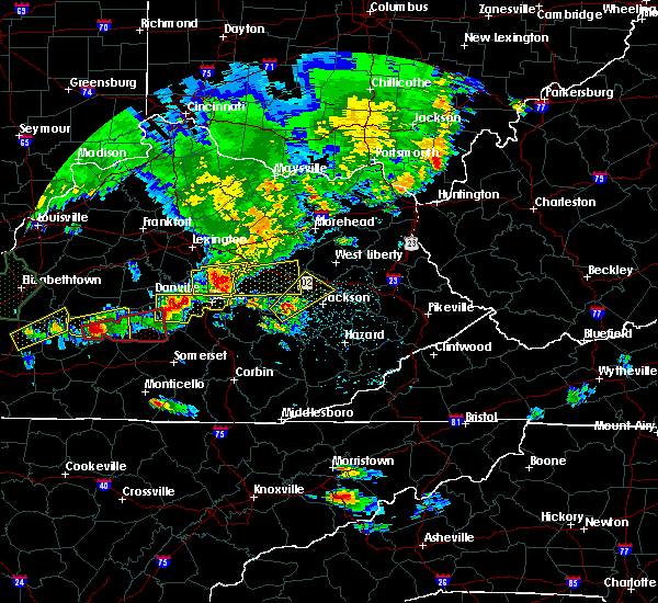 Radar Image for Severe Thunderstorms near Booneville, KY at 5/10/2016 7:04 PM EDT