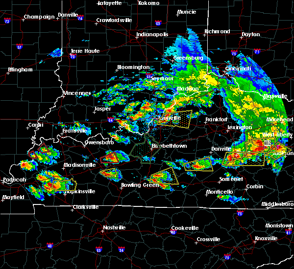 Radar Image for Severe Thunderstorms near Liberty, KY at 5/10/2016 7:33 PM EDT
