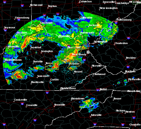 Radar Image for Severe Thunderstorms near Jackson, KY at 5/10/2016 8:13 PM EDT