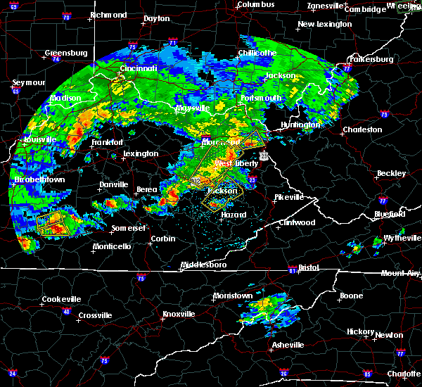 Radar Image for Severe Thunderstorms near Jackson, KY at 5/10/2016 8:19 PM EDT