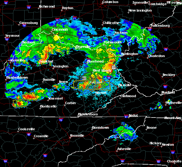 Radar Image for Severe Thunderstorms near Jackson, KY at 5/10/2016 8:48 PM EDT