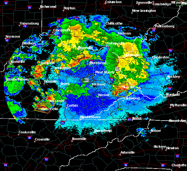 Radar Image for Severe Thunderstorms near Somerset, KY at 5/10/2016 10:09 PM EDT