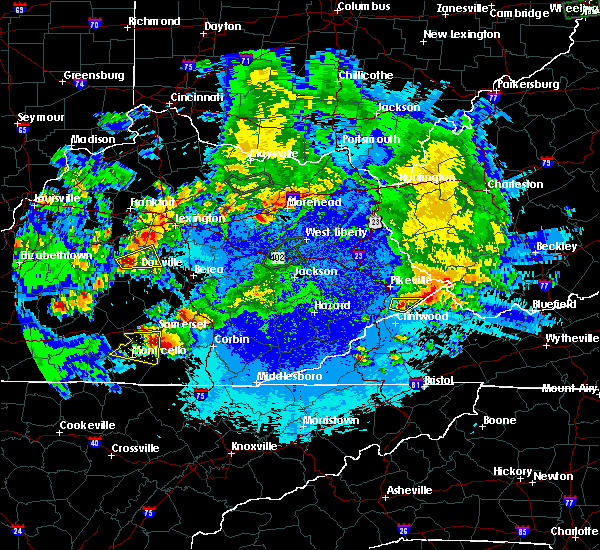 Radar Image for Severe Thunderstorms near Burnside, KY at 5/10/2016 10:42 PM EDT