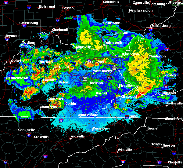 Radar Image for Severe Thunderstorms near Somerset, KY at 5/10/2016 11:05 PM EDT