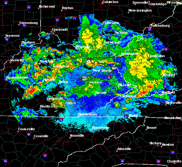 Radar Image for Severe Thunderstorms near Barbourville, KY at 5/10/2016 11:14 PM EDT