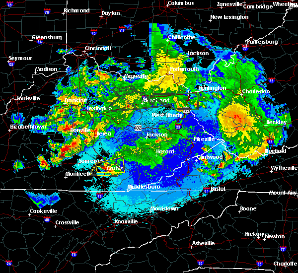Radar Image for Severe Thunderstorms near Barbourville, KY at 5/10/2016 11:47 PM EDT