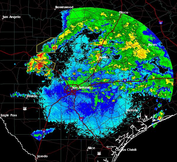 Radar Image for Severe Thunderstorms near Ingram, TX at 5/11/2016 1:29 AM CDT