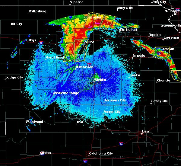 Radar Image for Severe Thunderstorms near Lyons, KS at 5/11/2016 3:40 AM CDT