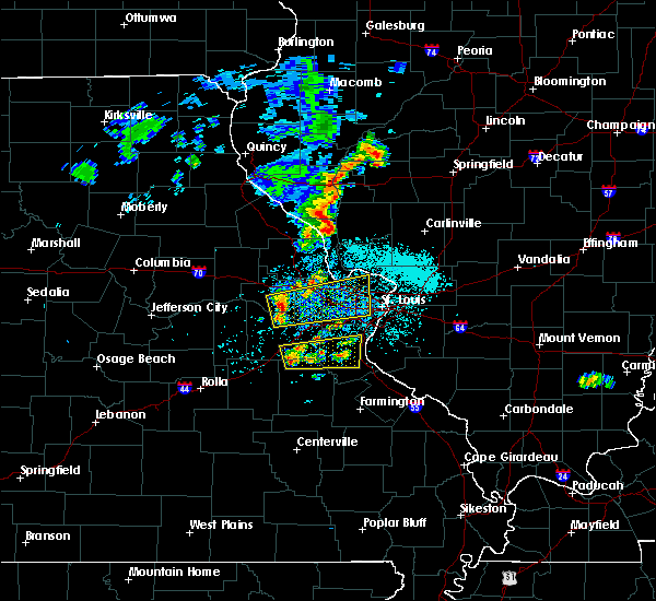 Radar Image for Severe Thunderstorms near De Soto, MO at 5/11/2016 12:34 PM CDT