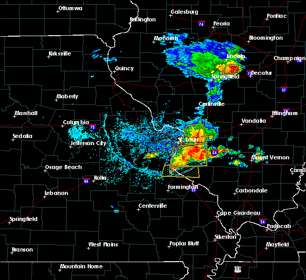 Radar Image for Severe Thunderstorms near Waterloo, IL at 5/11/2016 2:31 PM CDT