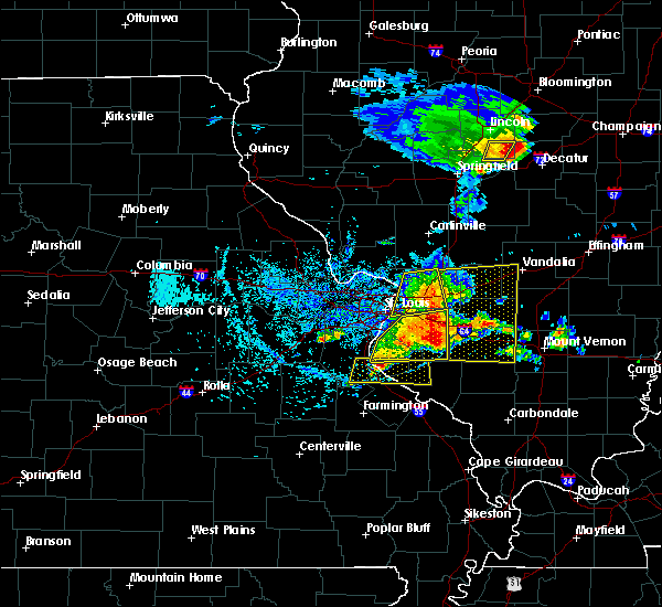 Radar Image for Severe Thunderstorms near Ashley, IL at 5/11/2016 2:37 PM CDT