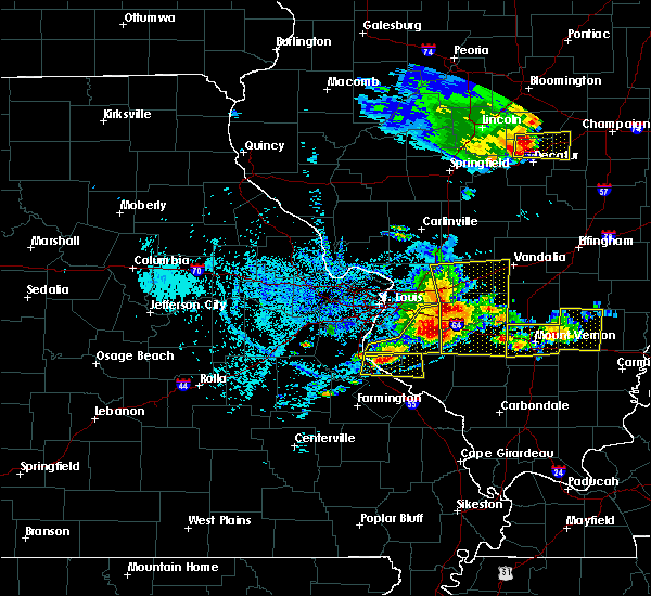 Radar Image for Severe Thunderstorms near Lebanon, IL at 5/11/2016 2:52 PM CDT