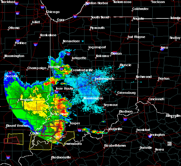 Radar Image for Severe Thunderstorms near Mecca, IN at 5/11/2016 7:08 PM EDT