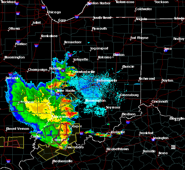 Radar Image for Severe Thunderstorms near Mecca, IN at 5/11/2016 7:21 PM EDT