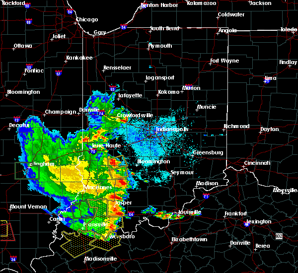 Radar Image for Severe Thunderstorms near Worthington, IN at 5/11/2016 7:33 PM EDT