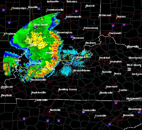 Radar Image for Severe Thunderstorms near Eminence, KY at 5/11/2016 8:05 PM EDT