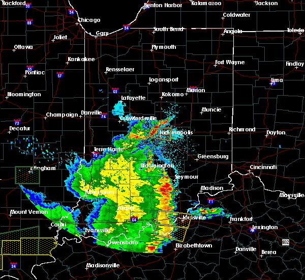 Radar Image for Severe Thunderstorms near Indianapolis, IN at 5/11/2016 8:51 PM EDT