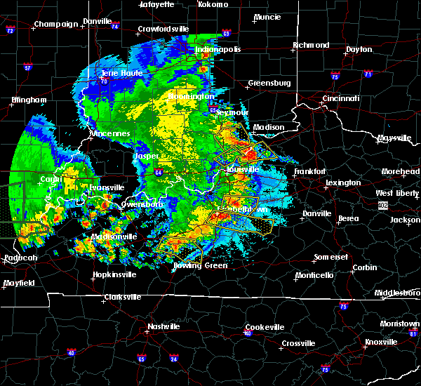 Radar Image for Severe Thunderstorms near Utica, KY at 5/11/2016 9:25 PM EDT