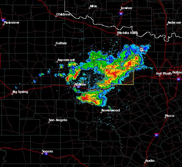 Radar Image for Severe Thunderstorms near Cross Plains, TX at 5/11/2016 8:35 PM CDT